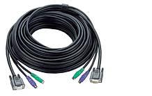 2L-1010P, КВМ-кабель с интерфейсами PS/2, VGA, ATEN