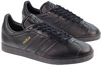 Кроссовки Adidas Gazelle Leather Black, фото 1