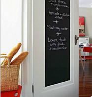 Пленка для рисования мелом -грифельная наклейка на стену с мелками 45х200 см.