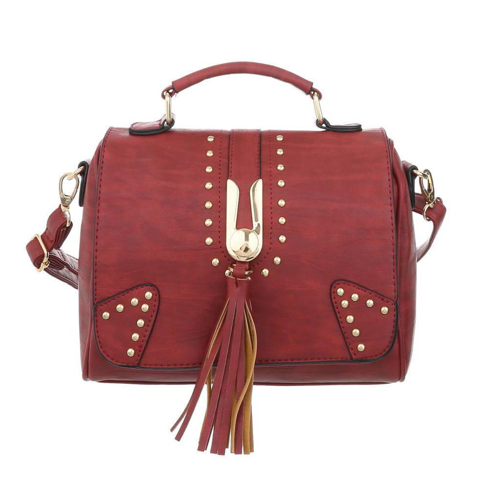 Женская сумка с кисточкой маленького размера (Европа) Бордовый