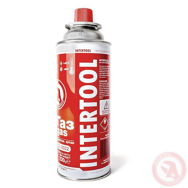 Баллон газовый 220 г. Intertool GS-0022