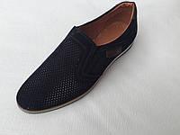 Мужские кожаные туфли с перфорацией с 40 по 45 размер