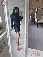 Стильное джинсовое женское платье , фото 2