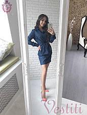 Стильное джинсовое женское платье , фото 3