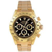 Мужские механические часы Rolex Daytona Gold Black (Ролекс Дайтона)