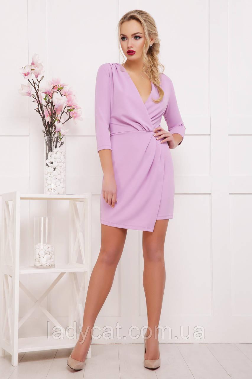 82f8287f1eb Повседневное женское платье с рукавом три четверти лавандового цвета ...