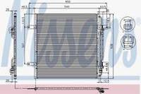 Радиатор кондиционера  MB Atego 9705000054 9062001222 A 9062001222 A 9705000054
