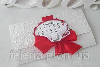 Пригласительное свадебное календарь