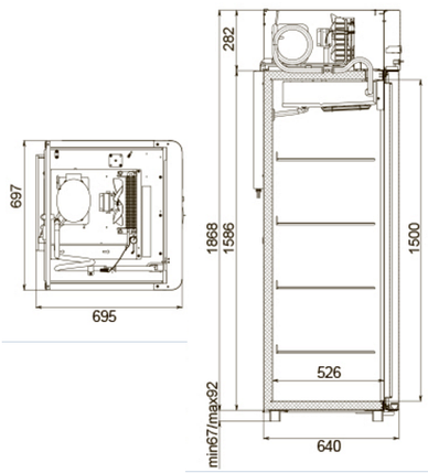 Холодильна шафа Polair CB105 Sm-Alu, фото 2
