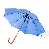 Зонт-трость полуавтомат голубого цвета