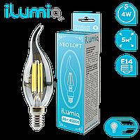 Светодиодная лампочка - свеча 061 LF-4-C37-E14-NW