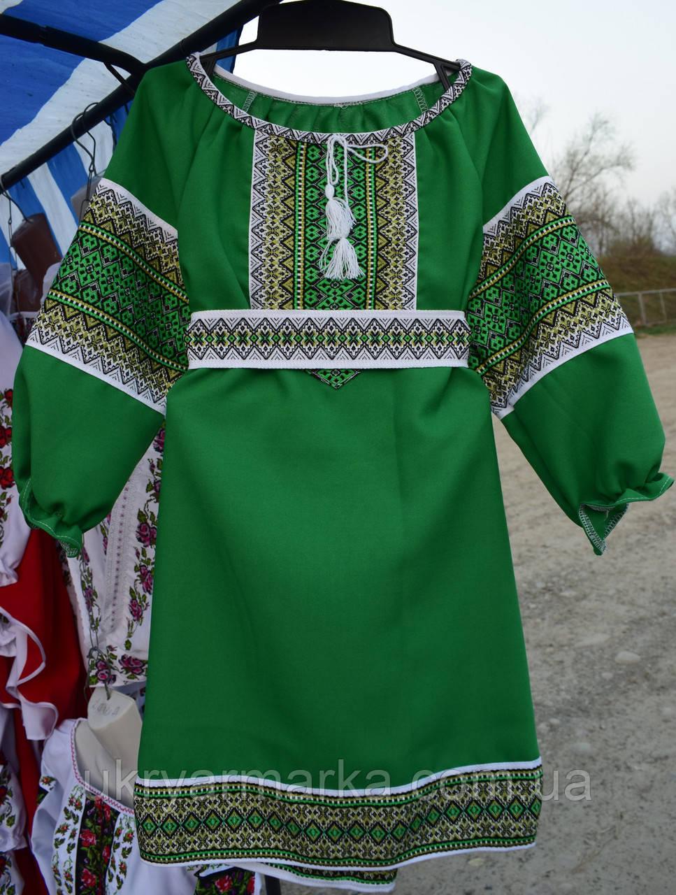 """Плаття для дівчинки """"Україночка""""зелене"""