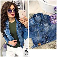 Женские джинсовые куртки