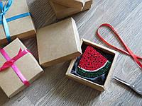 Подарочная коробочка для броши, упаковка для украшений