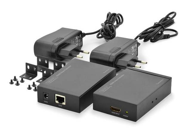 Подовжувач HDMI Digitus extender over UTP 50m, Black, фото 2