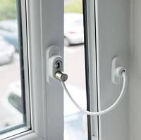 Замок-блокиратор открытия створки с ключом и кабелем Penkid Safety Lock, белый