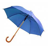 Зонт-трость полуавтомат синего цвета