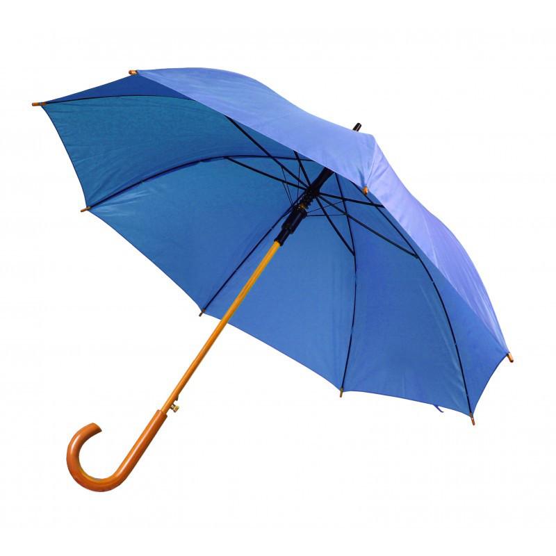 Зонт-трость полуавтомат синего цвета, фото 1