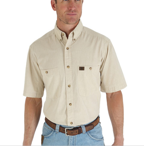 Джинсовая рубашка с коротким рукавом Wrangler - Natural