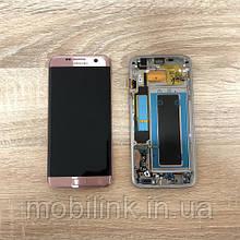 Дисплей Samsung S7 Egge SM-G935 Розовое золото Pink Gold GH97-18533E оригинал!