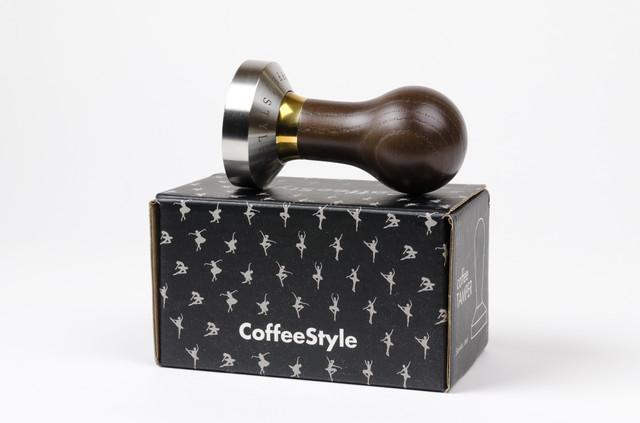 элитный темпер для темперовки кофе, нержавеющая сталь и дерево