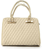 3780eb79cb0c Оригинальная недорогая прочная стеганная элегантная женская сумка из эко  кожи L&L art. 437 бежевая