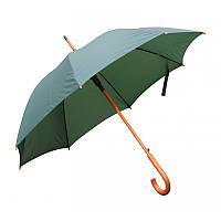 Зонт-трость полуавтомат зеленого цвета, фото 1