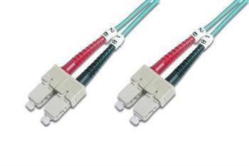 Оптичний патч-корд DIGITUS SC/UPC-SC/UPC,50/125, OM3,duplex,2m, фото 2