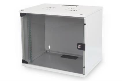 """Шафа DIGITUS 19"""" 9U 540x400, скл.двері, 60kg max, сірий колір, фото 2"""