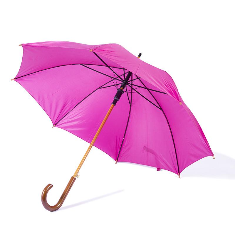Зонт-трость полуавтомат цвета фуксия, фото 1