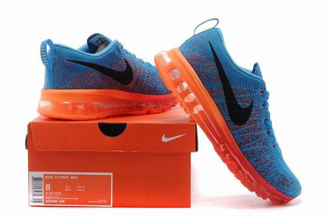 Nike Air Max Flyknit Blue Red Yellow