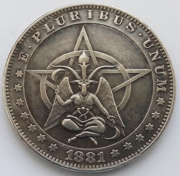 США Доллар Бафомет 1881