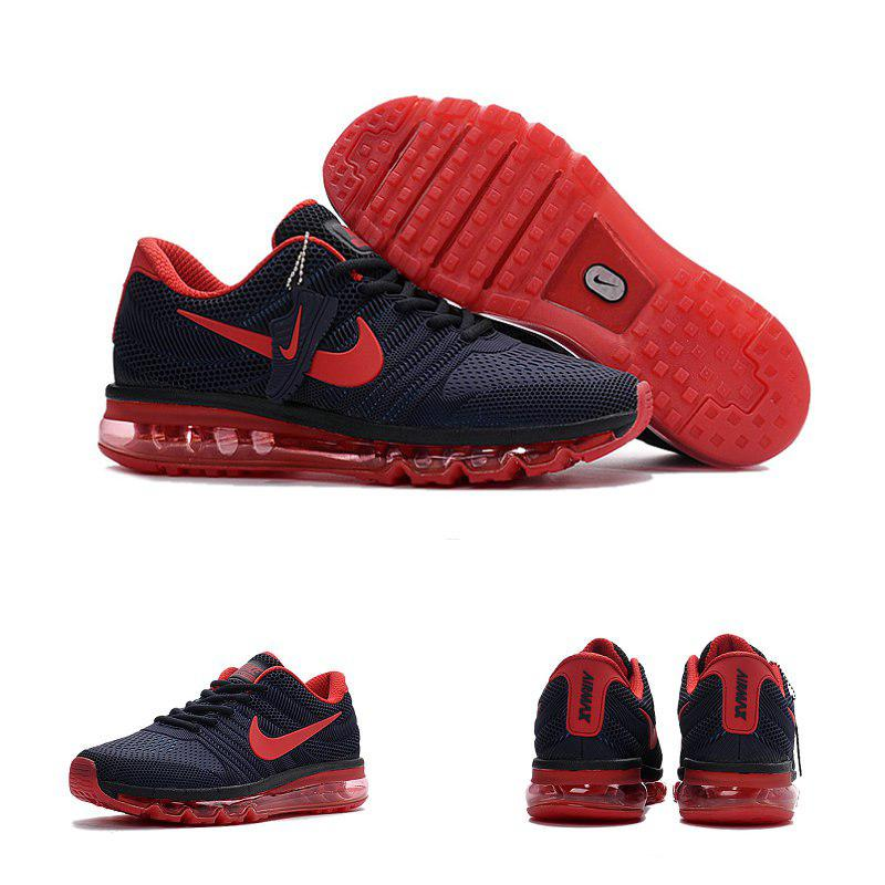 Кроссовки мужские Nike Air Max 2017.Синие с красным.Баллон