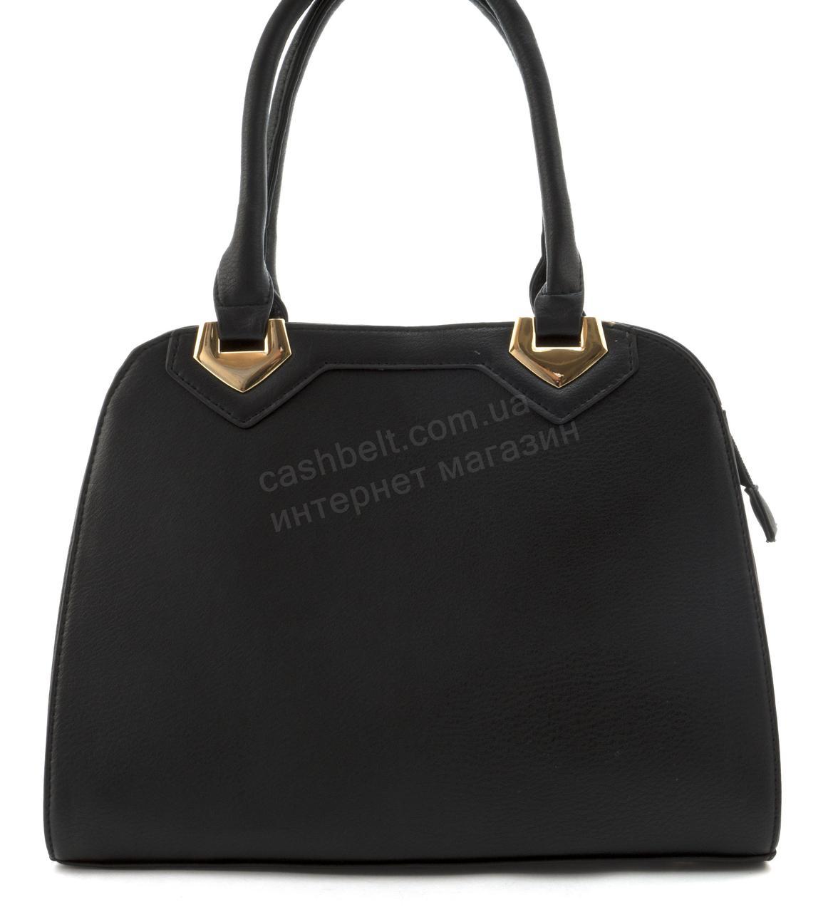 Оригинальная недорогая прочная элегантная женская сумка из эко кожи L&L art. 115 черная