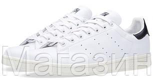 Женские кроссовки Adidas Stan Smith Адидас Стэн Смит белые с черным, фото 2