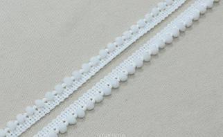 Белая декоративная тесьма арт.15137, цена за рулон(16метров.)