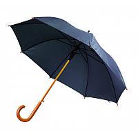 Зонт-трость полуавтомат темно-синего цвета