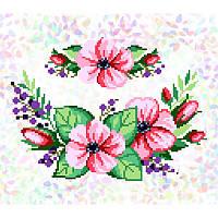 """Водорастворимый флизелин с рисунком """"Confetti"""" (K331 Розовый букет)"""