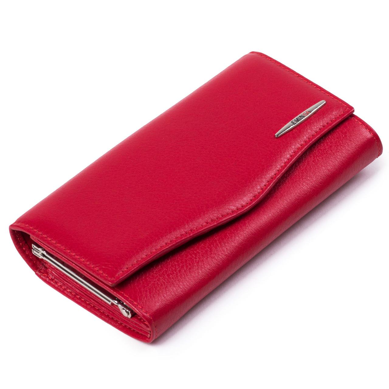 Женский кошелек кожаный красный Eminsa 2023-12-5