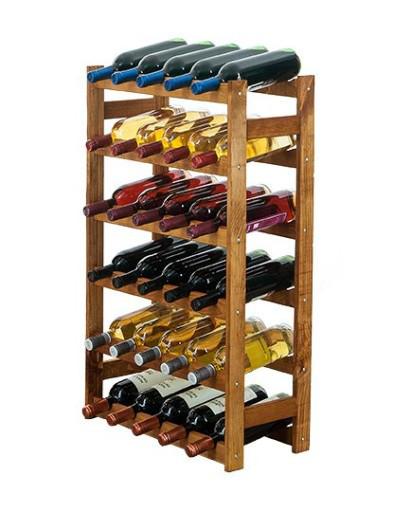Винна полиця дерев'яна RW-1-30 на 30 пляшок