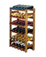 Винна полиця дерев'яна RW-1-30 на 30 пляшок, фото 1