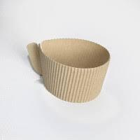Термочехол гофра для стаканов бумажных, универсальный (100 шт/уп)