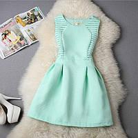 Платье женское жаккардовое с сеткой мятное, фото 1