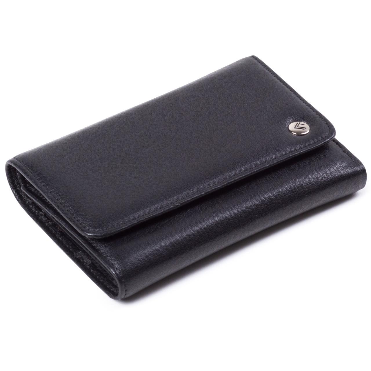Женский кошелек кожаный черный Eminsa 2055-12-1