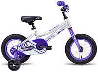 "Велосипед 12"" Apollo Neo girls фиолетовый, белый 2018 (SKD-66-57)"
