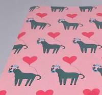 Бумага для упаковки подарков 10 м Любовь
