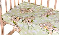 Сменный комплект Qvatro Gold SG-03 рисунок Салатовая (мишка-мальчик и мишка-девочка спят)