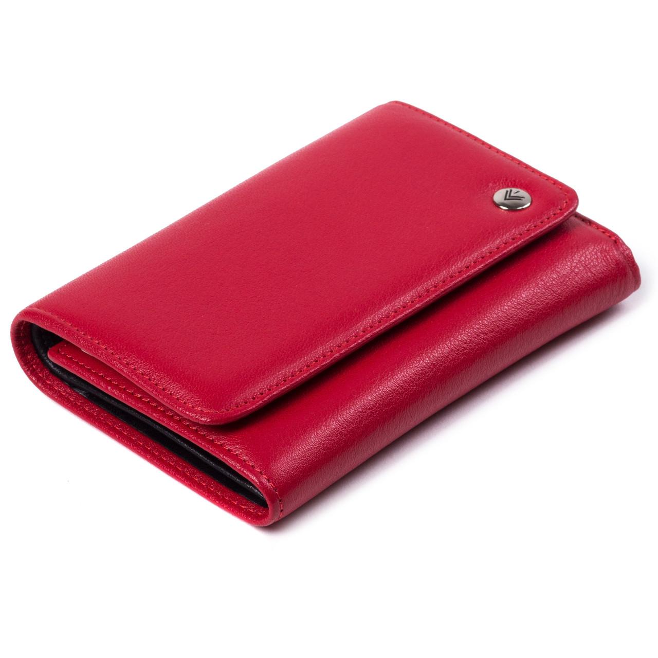Женский кошелек кожаный красный Eminsa 2055-12-5