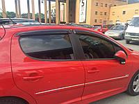 Дефлекторы окон Cobra Tuning  Peugeot 207 2006-2013