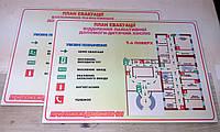 Планы эвакуации на заказ, плакаты, таблички